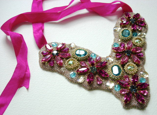 Romantic bib necklace