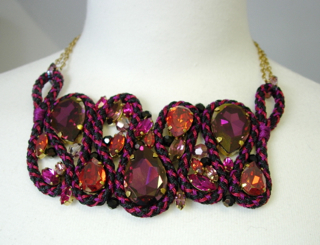 Kumihimo rope snake necklace