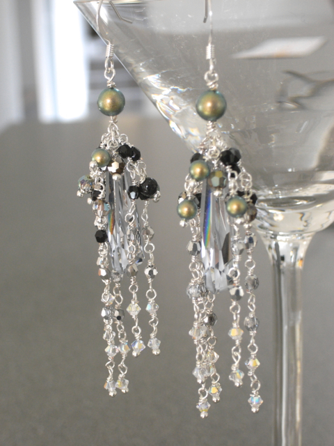 Crystalactite Pendant Earrings